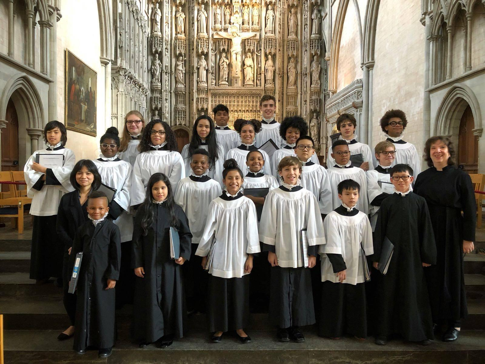 The Boys and Girls Choir at England last summer