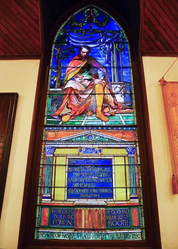 John LaFarge's magnificent window depicting Edwin Booth